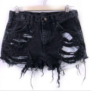 Pants - Black distressed shorts, sexy shorts